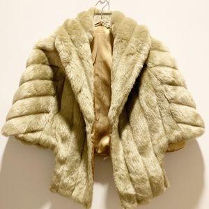 VINTAGE G. Caserotti Faux Fur Cape/Stole